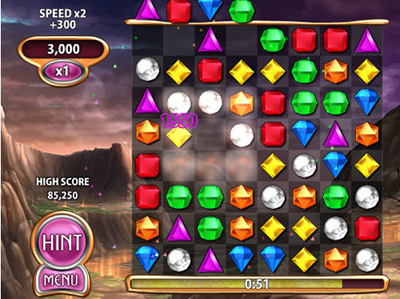 Facebook Фейсбук игра - Bejeweled Blitz