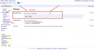 Геотаргетиране на уеб сайт чрез Google Webmaster Tools