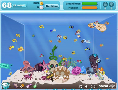 Facebook Фейсбук игра - Happy Aquarium