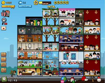 Facebook Фейсбук игра - Hotel City