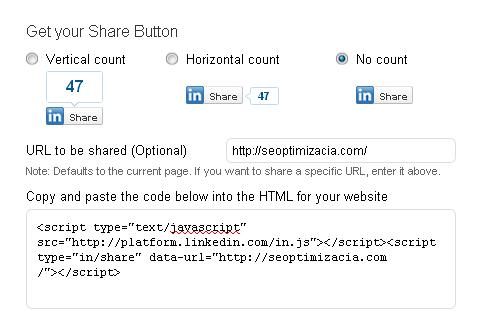 Можете да сложите LinkedIn Share бутона във вашия сайт