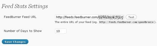 Инсталирайте си и нужния Plugin Feed Stats за WordPress