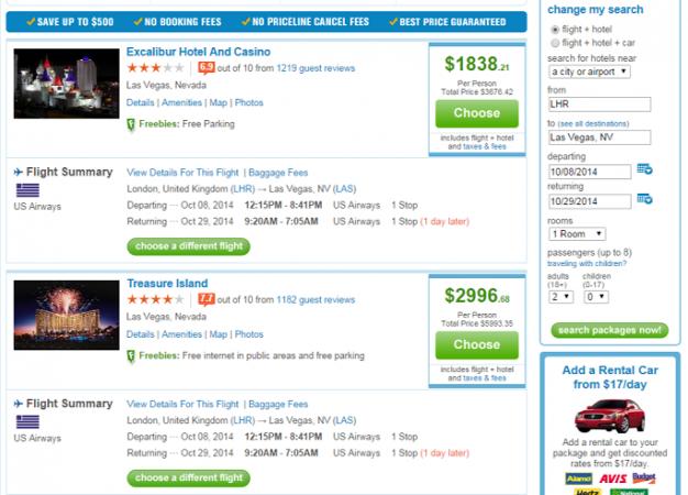 Резултати от търсенето в Priceline