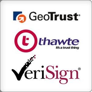 Издатели на SSL сертификати - GeoTrust, Thawte, VeriSign