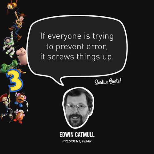 If everyone is trying to prevent error, it screws things up.