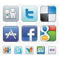 Социални мрежи: Векторни Икони